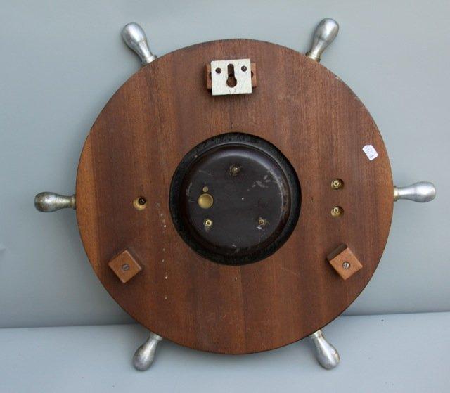 Vintage French Bayard 8 Day Clock - Ship's Wheel