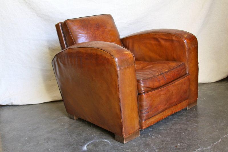 Vintage French Club Chair - Giant Lyon Lounge Single