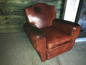 Boutal Gendrame French leather Club Chair