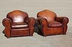 La Fresse gendarme French Club Chair pair