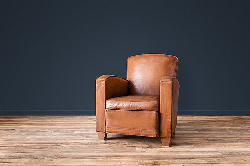Lemans Deco Solo French Club leather chair
