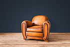 Silvie Cinema Deco Solo French leather Club chair