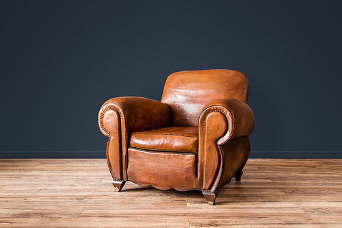 Lemans Lounge Solo French leather Club chair