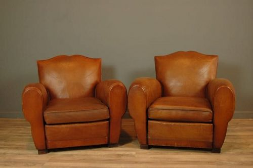 Ile de St Louis French Mustache Club Chairs - SOLD