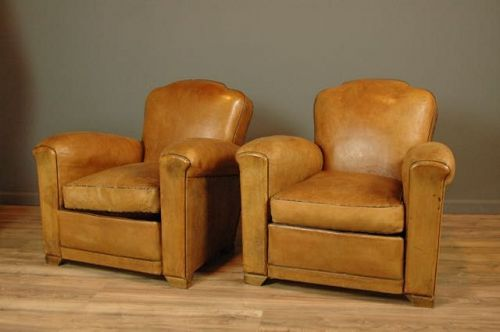 Crillion Coquille French Club Chair Pair Vintage