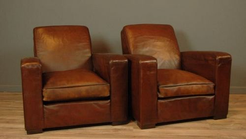 Bern Vintage Squareback French Club Chairs