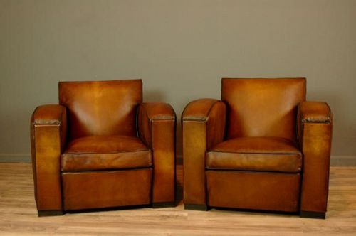 La Rochelle Vintage Pair French Club Chairs