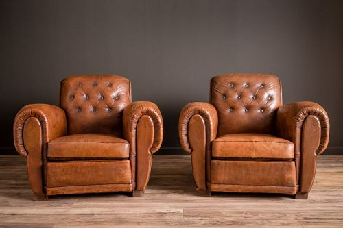 Pigalle Giant Rollback Pair French Club Chairs