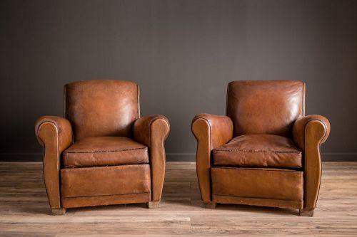 Sursense Square French Club chair pair