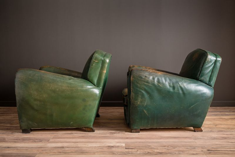 Green Library French Club Chair Salon set