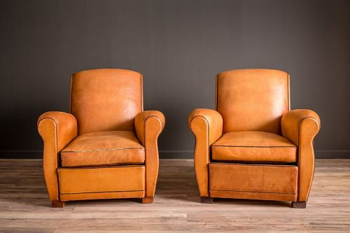 Samur Slope French Club Chair pair