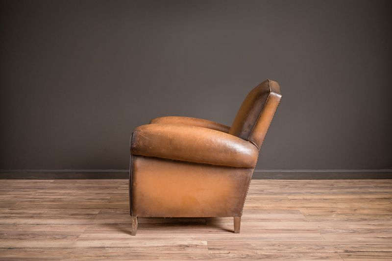 Gendarme Daniel Solo Leather French Club Chairs