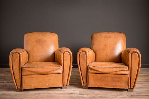 Picardie Library Light Caramel Pair of Leather French Club