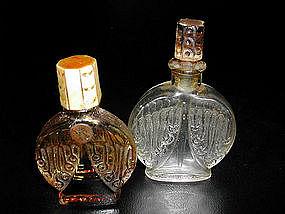 2 Vintage French Perfumes Corday Bone/Glass