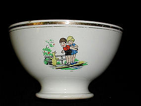 French Cafe au Lait Bowl Children & Animals