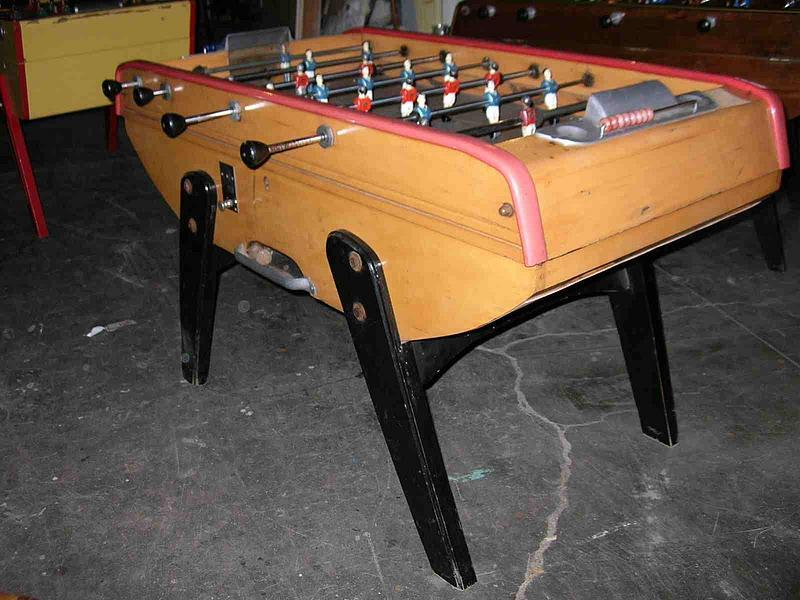 Vintage French Bonzini Foosball Table Model B Item - Bonzini foosball table