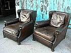 Vintage French Club Chairs - Ghislan Wingback Pair