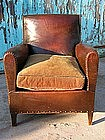 Vintage French Leather Club Chair - KT Nailed Orphan