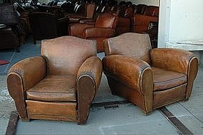 Vintage French Club Chairs Claude Champagne Gendarme