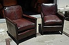 Vintage French Club Chairs - Giverny Nailhead Pair