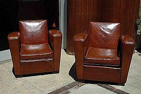 Vintage Club Chairs - Place des Vosges Squareback Pair