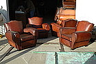 French Club Chairs Set of Four Classic Moustache Backs