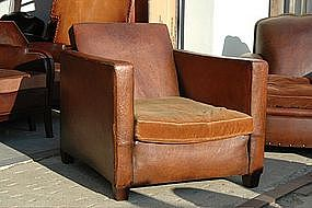 Vintage French Club Chair Smokers Lounge Single