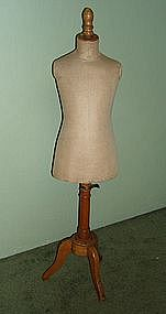 Vintage French Mannequin Child Size Dress Form RARE!