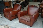 Vintage French Club Chairs - Deauville Moustache Pair