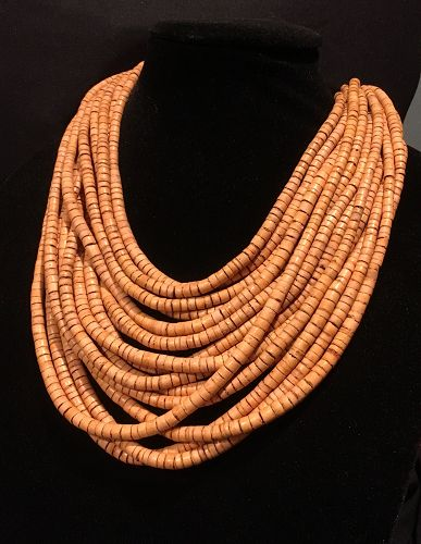 Gerda Lynggaard Monies Designer Multi Strand Horn Necklace Signed
