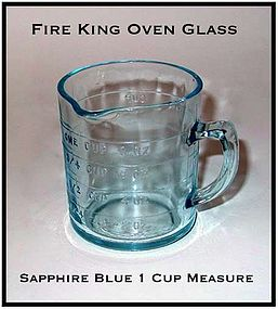 Hocking Fire King Sapphire Blue 1 Cup Measure