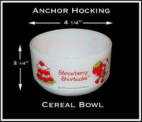 Hocking Strawberry Shortcake Decorated Cereal Bowl