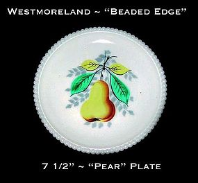 "Westmoreland Beaded Edge ""Pear"" 7 1/2"" Plate"