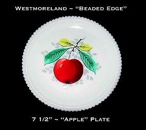 "Westmoreland Beaded Edge ""Apple"" 7 1/2"" Plate"