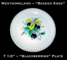 "Westmoreland Beaded Edge ""Blackberries"" 7 1/2"" Plate"