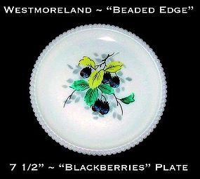 """Westmoreland Beaded Edge """"Blackberries"""" 7 1/2"""" Plate"""