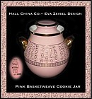 Hall Eva Zeisel Design Pink Basketweave GD Cookie Jar