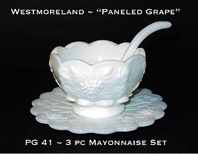 "Westmoreland ""Paneled Grape"" PG 41 3pc Mayo Set"