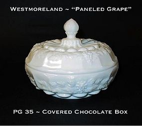 "Westmoreland ""Paneled Grape"" PG 35 Cov Chocolate Box"