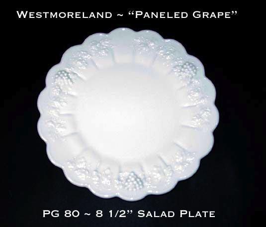 "Westmoreland ""Paneled Grape"" PG 80 8 1/2"" Salad Plate"