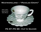 "Westmoreland ""Paneled Grape"" Cup and Saucer"