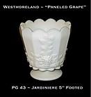 "Westmoreland ""Paneled Grape"" PG 42 ~ 5"" Tall Jardiniere"