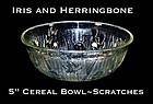 "Jeannette Iris and Herringbone 5"" Cereal Bowl-Scratches"
