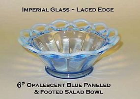 "Imperial Glass Lace Edge Katy Style 6"" Salad Bowl"