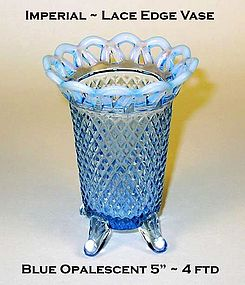 "Imperial Glass Lace Edge Katy Style 5"" Footed Vase"