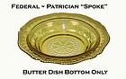 """Federal Patrician """"Spoke"""" Amber 6 1/2"""" Jam Dish"""