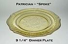 Federal Glass ~ Patrician Spoke ~ Amber Dinner Plate