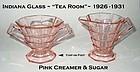 "Indiana Glass ""Tea Room"" Pink Creamer & Sugar As-Is"