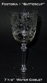 "Fostoria ""Buttercup"" 9oz Tall Water Goblet"