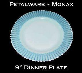 """Macbeth-Evans Petalware Monax 9"""" Dinner Plate"""